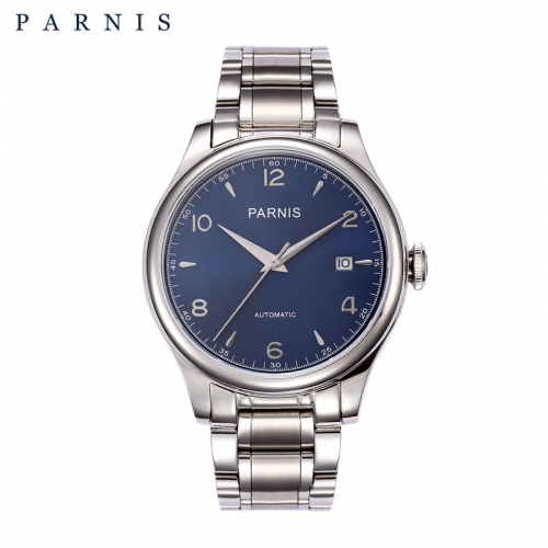 38mm Parnis Miyota Automatic Men's Watch Sapphire Glass Stainless Steel Bracelet