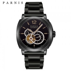 44mm Parnis 21 Jewels Miyota Automatic Sapphire Men's Casual Watch Luminous Mark