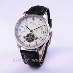 43mm Parnis Automatic Movement Men's Boys Casual Watch Power Reserve Indicator