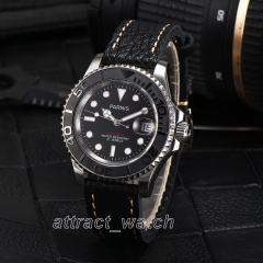 Parnis Sapphire Miyota Automatic Men Casual Watch Rotating Bezel Luminous Marker